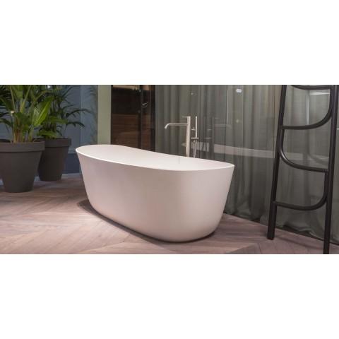 Vasca da bagno ovale in Cristalplant di modello Dafne di Antonio Lupi