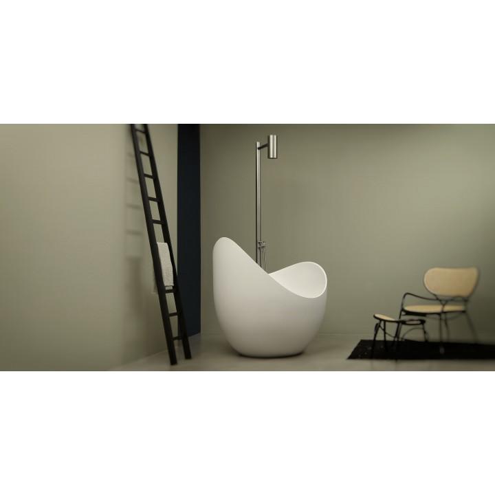 Freestanding bathtub in cristalplant lunetta by antonio lupi - Modelli di vasche da bagno ...