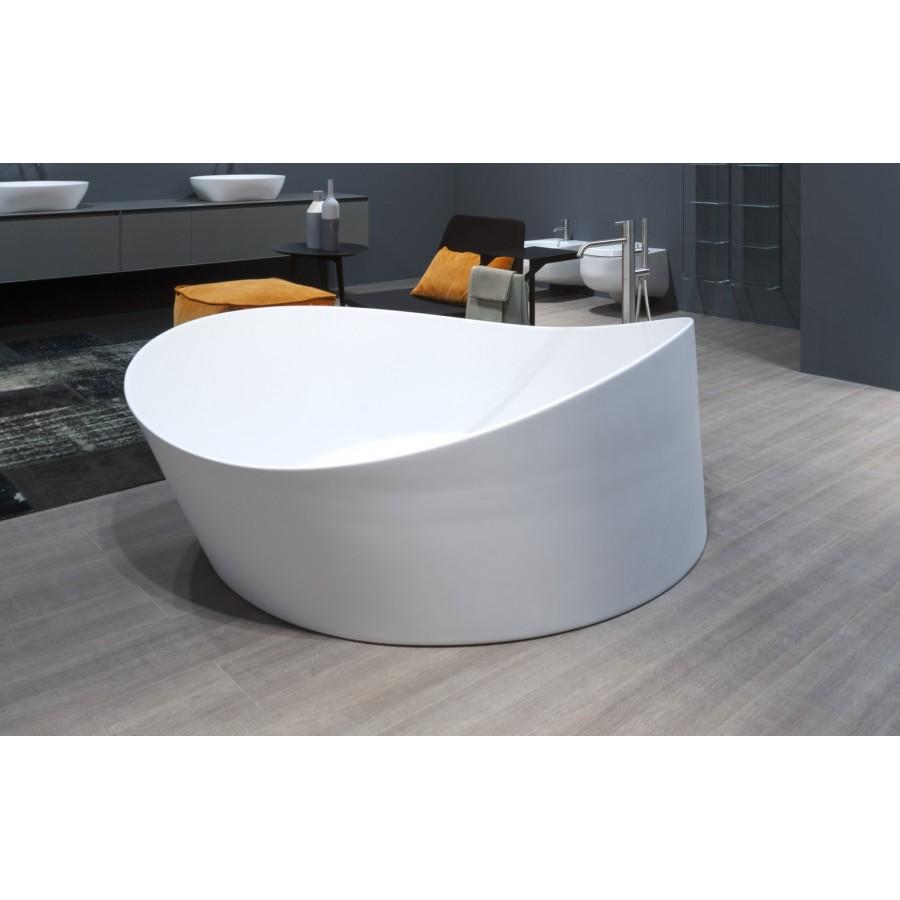 Vasca da bagno tonda a semincasso in cristalplant di - Modelli di vasche da bagno ...