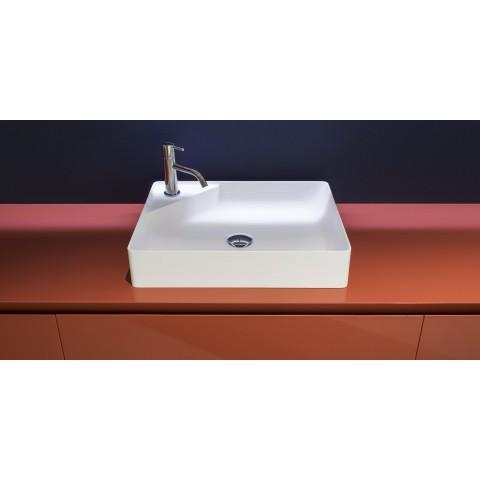 Lavabo rettangolare in Flumood modello Simplo di Antonio Lupi