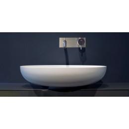 Lavabo tondo soprapiano in Flumood modello Verso di Antonio Lupi
