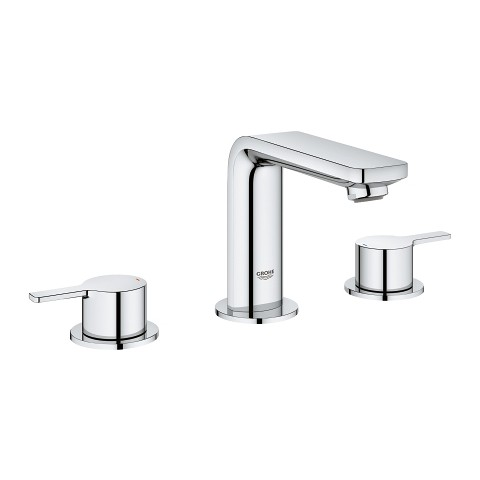 Three-hole basin mixer Lineare by Grohe chrome