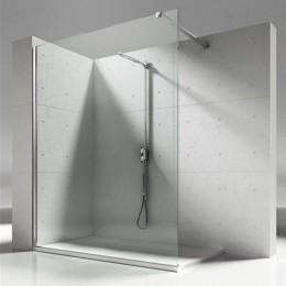 Cristallo fisso per doccia modello Skin di Vismara cm.120 argento l