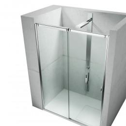 Cabina doccia modello Slide vf+vq di Vismara argento l.
