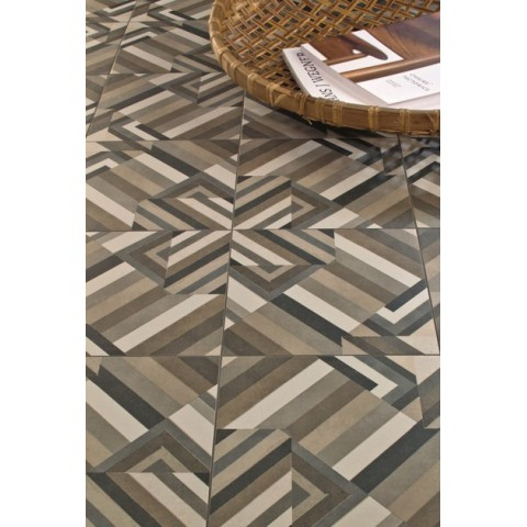 Porcelain tile Dechirer neutral col. white by Mutina ( 120x120 cm)