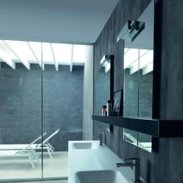 Specchio serie Manatthan di Karol ( 60x90 cm) bianco l.