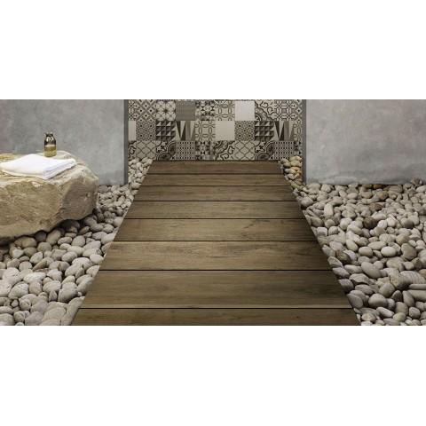 Wood effect tile Treverkmood by Marazzi col. mahogany (15x90 cm) for livingroom