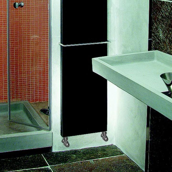 Piastra radiante modello Platt color di Brem in acciaio nero metallizzato 49,5x80 cm
