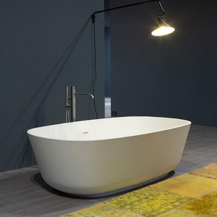 Vasca ovale modello baia small di antonio lupi in - Vasca da bagno ceramica ...