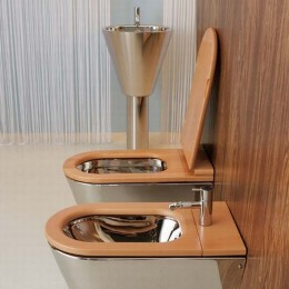 """Wall hung wc """"Jhon"""" by Rapsel in stainless steel"""