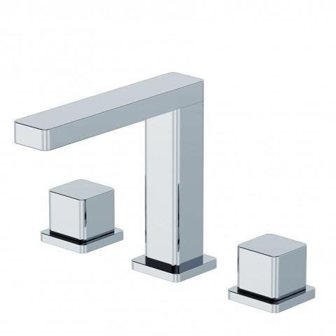 Gruppo a tre fori lavabo modello Glitter di Ritmonio