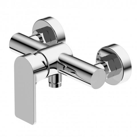 Miscelatore monocomando esterno per vasca a doccetta con flessibile modello Pois di Ritmonio