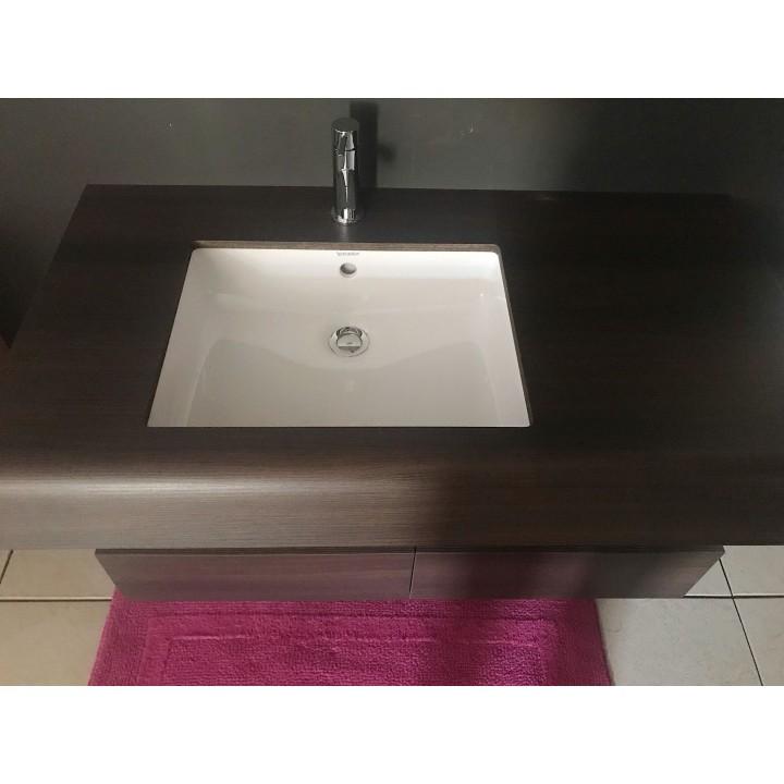 Mobile portalavabo incasso con lavabo sottopiano di Duravit