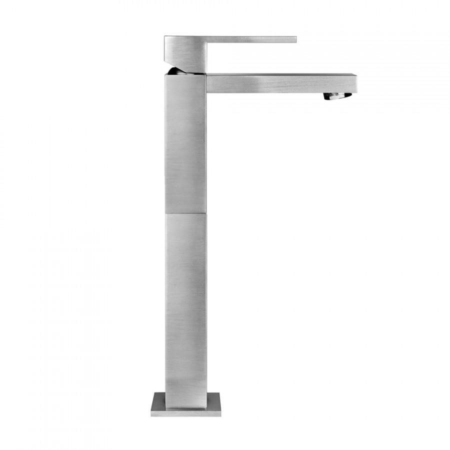 Miscelatore monocomando alto per lavabo serie rettangolo for Miscelatore lavabo