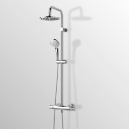 Wall mounted thermostatic mixer shower Idealduo idealrain by Ideal Standard chrome