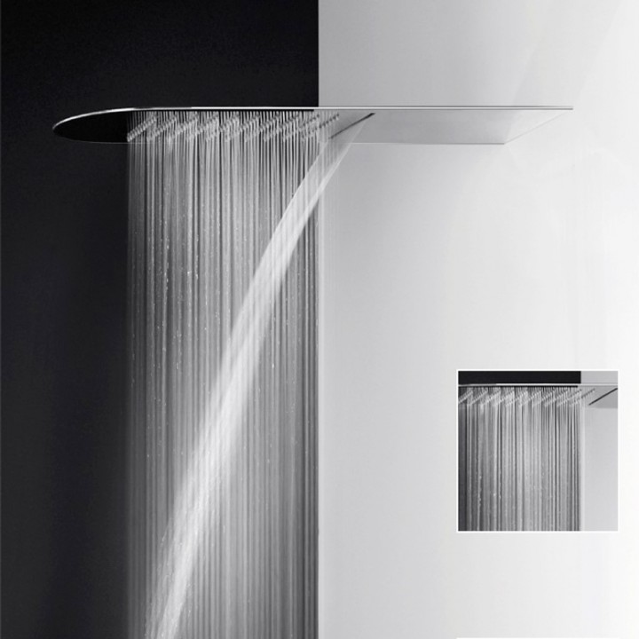 Soffione doccia multifunzione Pioggia/cascata serie Tondo 200 3 MM di Gessi cromo - Store MAES srl