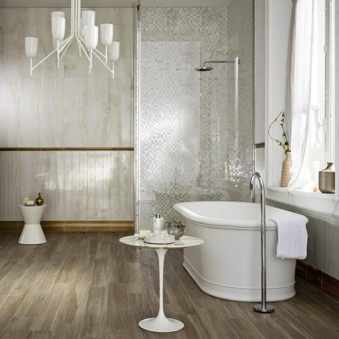 Mosaico su Rete Rivestimento Evolutionmarble Marazzi per il bagno