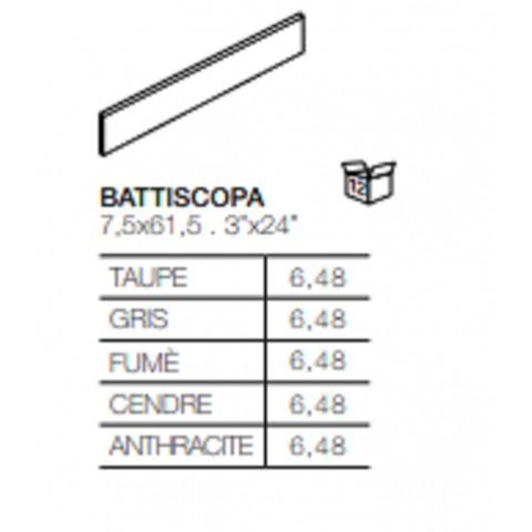H24 battiscopa 7,5x45 della Energie Ker effetto cemento in gres porcellanato