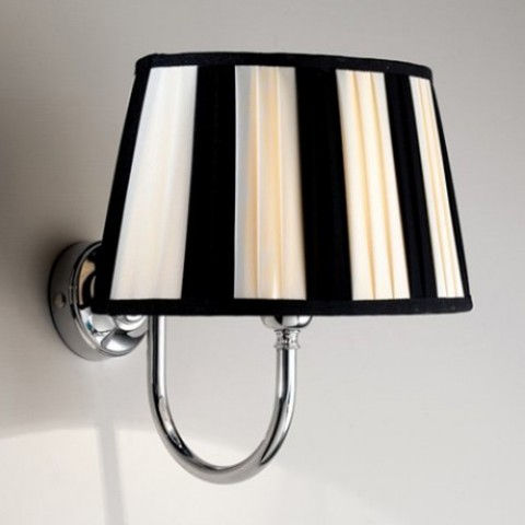 "Wall lamp ""Decor"" Devon&Devon chrome with black and white shade"