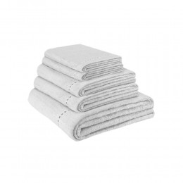 Hemp white towel set by Gessi Home Collection