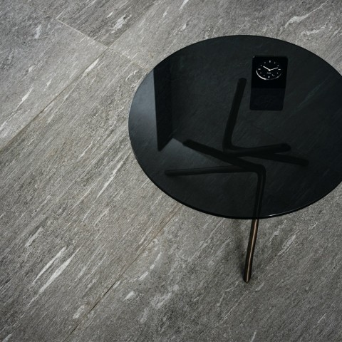 "Porcelain floor tile stone effect ""My stone"" Pietra di Vals20 col.anthracite (40x120 cm) outdoor"